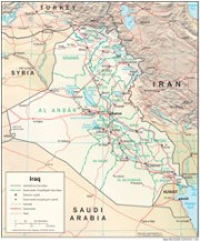 Map Iraq Physiography 2008